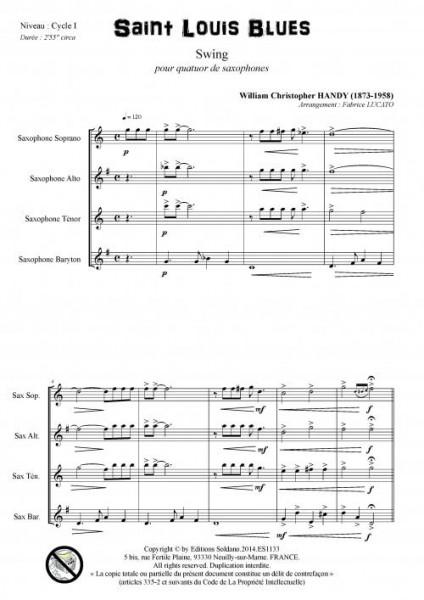 Saint Louis Blues (quatuor de saxophones)