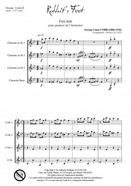 Rabbit-s foot (quatuor de clarinettes)