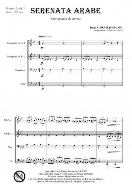 Serenata arabe (quatuor de cuivres)