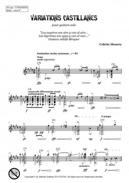 Variations Castillanes (guitare)