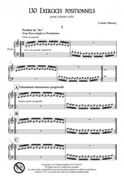 130 exercices positionnels (piano)