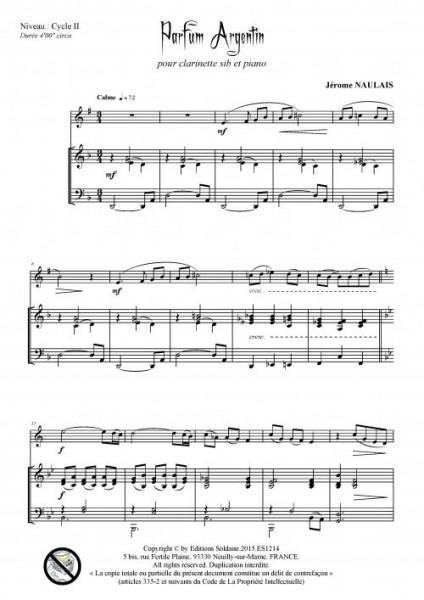 Parfum argentin (clarinette et piano)
