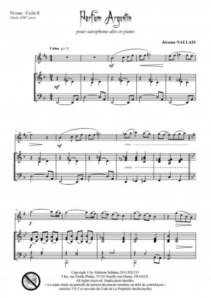 Parfum argentin (saxophone alto et piano)