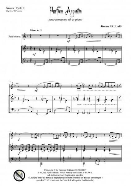 Parfum argentin (trompette et piano)