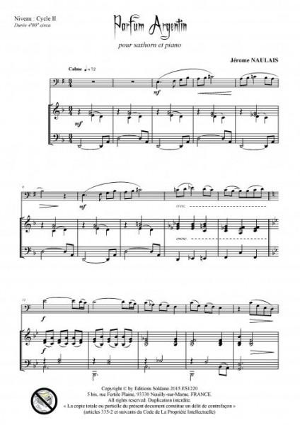 Parfum argentin (saxhorn et piano)
