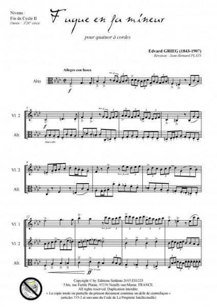 Fugue en fa mineur (quatuor à cordes)