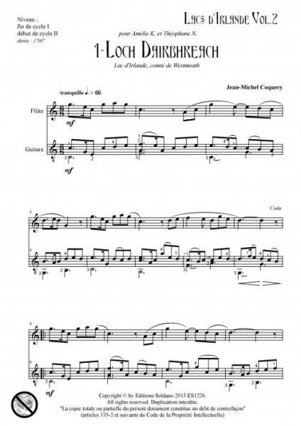 Lacs d'Irlande VOLUME 2 (flûte et guitare)