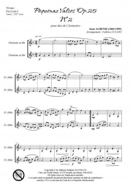 Pequenaz valse n°2 (duo de clarinettes)