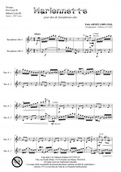 Marionnette (duo de saxophones alto)