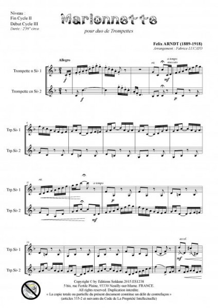 Marionnette (duo de trompettes)
