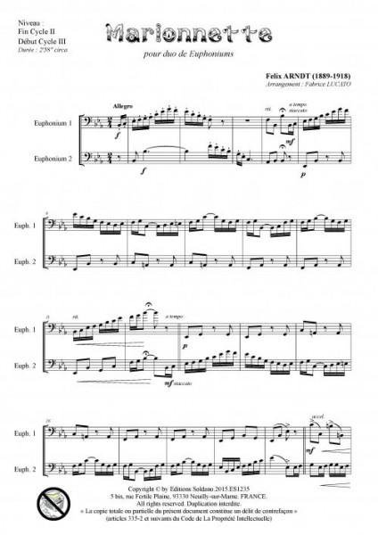 Marionnette (duo d-euphoniums)