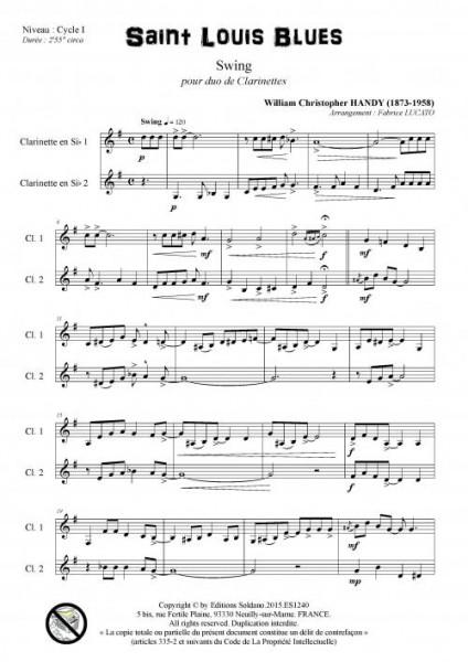 Saint Louis Blues (duo de clarinettes)