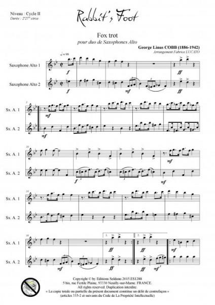 Rabbit-s foot (duo de saxophones alto)