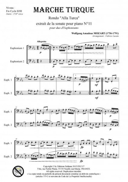 Marche Turque (duo d-euphoniums)
