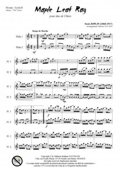 Maple leaf rag (duo de flûtes)