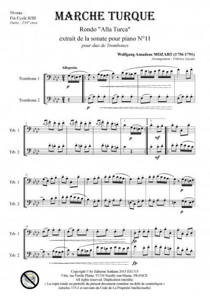 Marche Turque (duo de trombones)