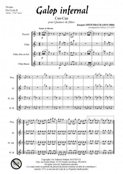 Galop infernal (quatuor de flûtes)