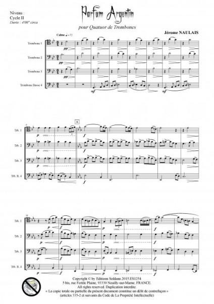Parfum argentin (quatuor de trombones)