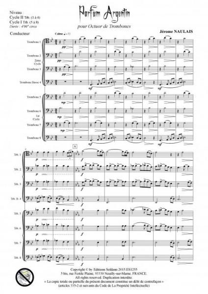 Parfum argentin (octuor de trombones)