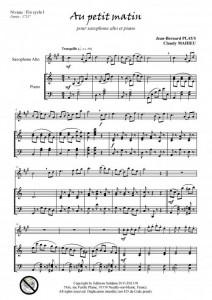 Au petit matin (saxophone alto et piano)