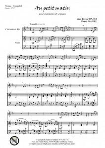 Au petit matin (clarinette et piano)