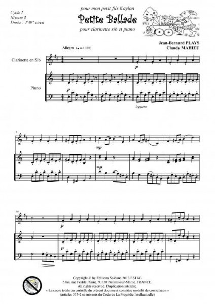 Petite ballade (clarinette et piano)