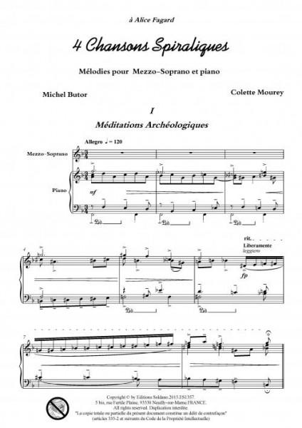 4 chansons spiraliques (mezzo-soprano et piano)