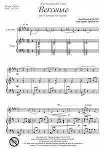 Berceuse (clarinette et piano)