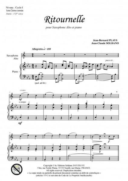 Ritournelle (saxophone alto et piano)