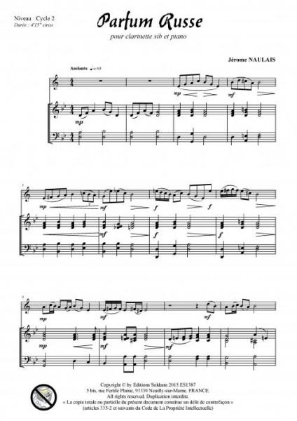 Parfum russe (clarinette et piano)