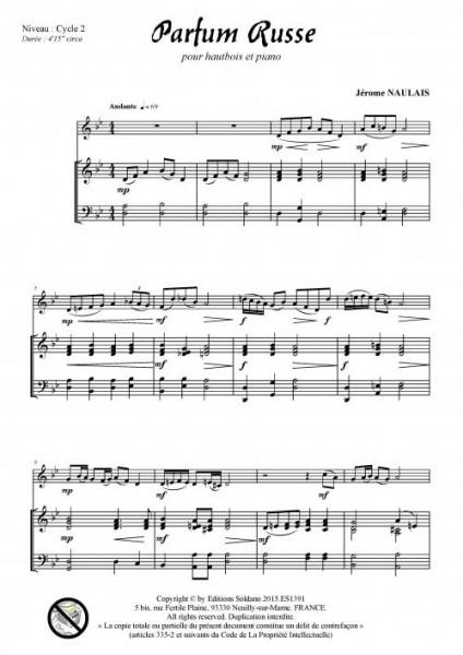 Parfum russe (hautbois et piano)