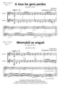 4 duos de Noël (duo de violons)