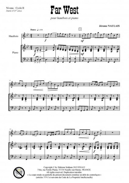Far West (hautbois et piano)