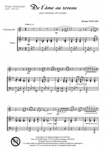 De l-âme au roseau (pour clarinette sib et piano)