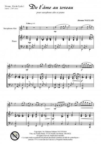 De l-âme au roseau (pour saxophone alto et piano)