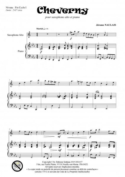 Cheverny (saxophone alto et piano)