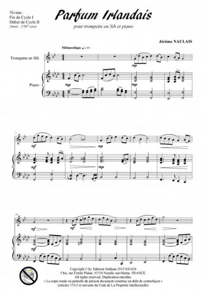 Parfum irlandais (trompette et piano)