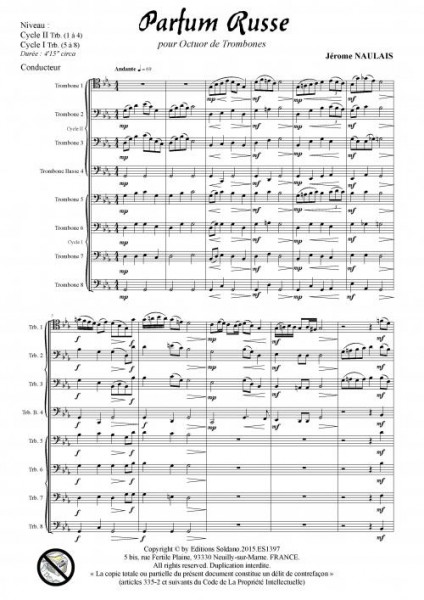 Parfum russe (octuor de trombones)