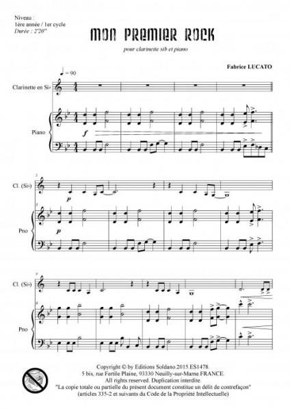 Mon premier rock (clarinette sib et piano)