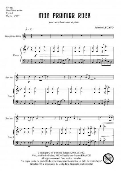 Mon premier rock (saxophone ténor et piano)