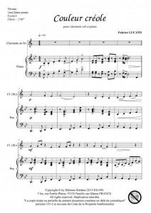 Couleur créole (clarinette sib et piano)