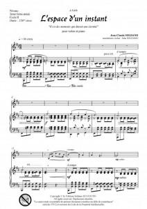 L-espace d-un instant (violon et piano)