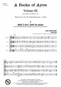 A Book of Ayres -Volume 3- (quatuor de flûtes à bec)