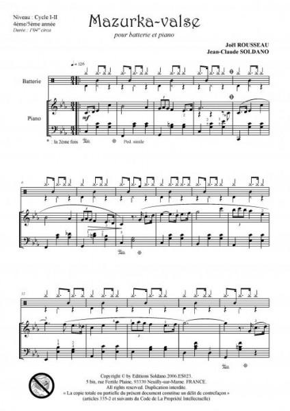 Mazurka-Valse (batterie et piano)