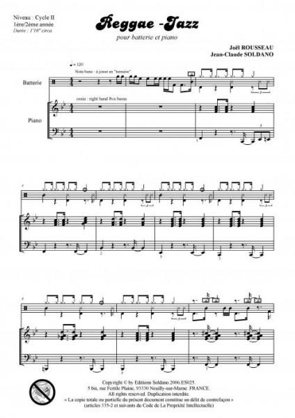 Reggae-jazz (batterie et piano)