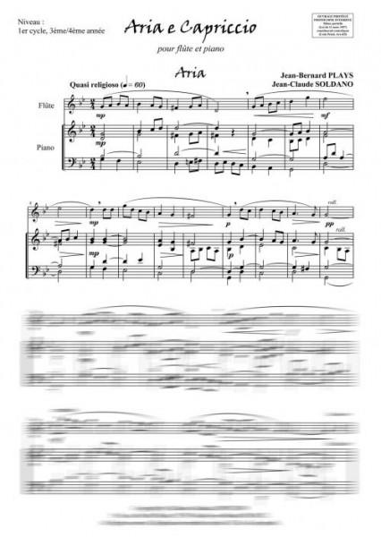 Aria e capriccio (flûte et piano)