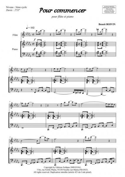 Pour commencer (flûte et piano)