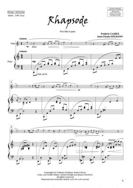 Rhapsode (Flûte/Piano)
