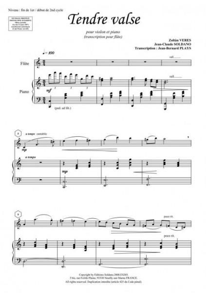 Tendre valse (flûte/piano)