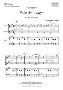 Valse des nuages (2 flûtes et piano)